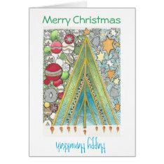 Christmas / Hanukkah Card (christmas Up) at Zazzle