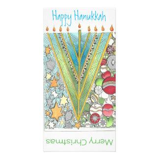 Christmas Hanukkah Greeting Card