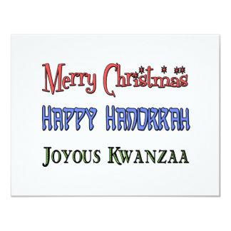 Christmas - Hanukkah - Kwanzaa Card