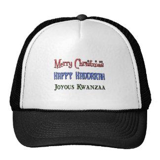 Christmas - Hanukkah - Kwanzaa Trucker Hat