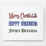 Christmas - Hanukkah - Kwanzaa Mouse Pad