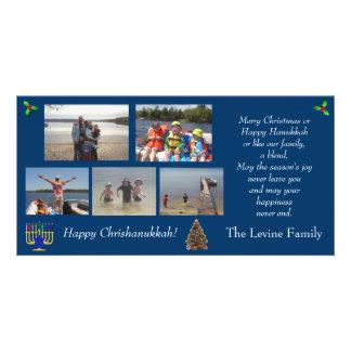 Christmas/Hanukkah Photo Holiday Card Picture Card