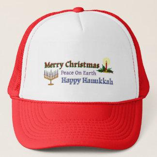 Christmas Hanukkah Trucker Hat