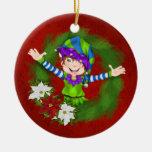 Christmas Happy Elf - SRF Christmas Tree Ornaments