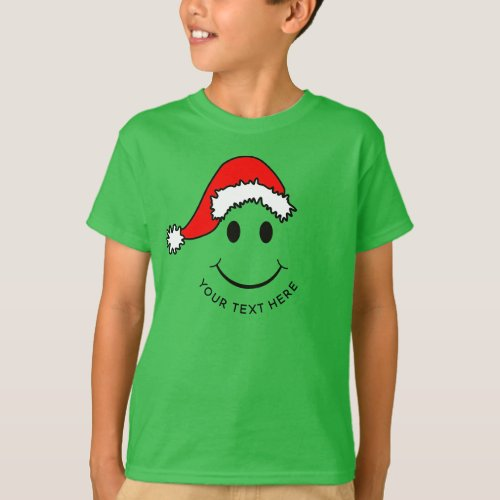 Christmas Happy Face Add Text T_Shirt