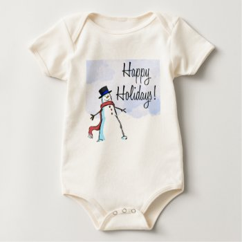 Christmas Happy Holiday Apparrel Baby Bodysuit by creativeconceptss at Zazzle