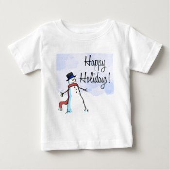 Christmas Happy Holiday Apparrel Baby T-shirt by creativeconceptss at Zazzle