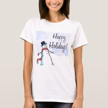 Christmas Happy Holiday Apparrel T-shirt by creativeconceptss at Zazzle