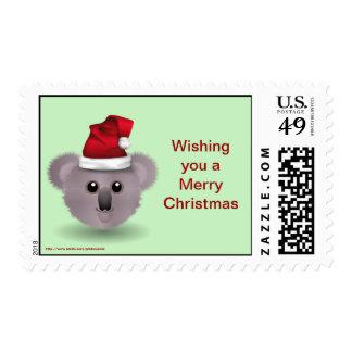 Christmas Happy Holidays Season s Greetings koala Postage Stamps
