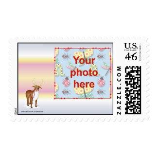 Christmas Happy Holidays Season's Greetings photo Stamp