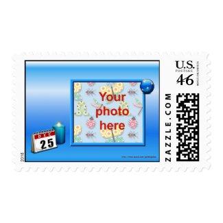 Christmas Happy Holidays Season's Greetings photo Postage Stamps