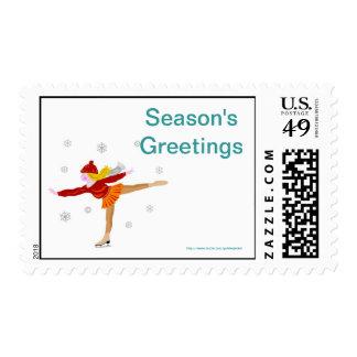 Christmas Happy Holidays Season's Greetings xmas Postage