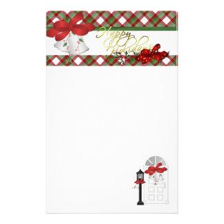 Christmas Happy Holidays Customized Stationery