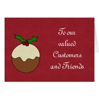 Christmas Happy Holidays to customers and clients Greeting Card