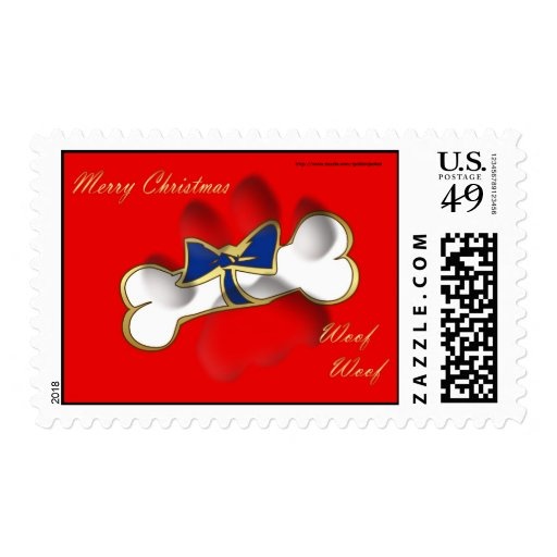 Christmas Happy Holidays to customers and clients Stamp