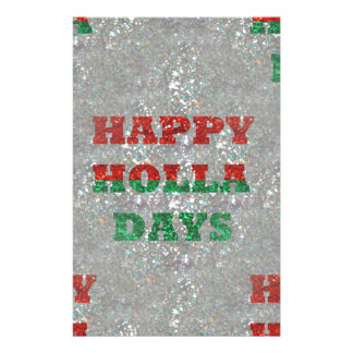 christmas happy holla days stationery