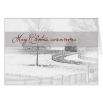 Christmas/Happy New Year - Horse Ranch-Winter/Snow Card