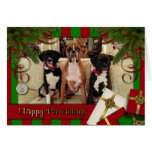 Christmas - Happy Pawlidays - Boxers Card