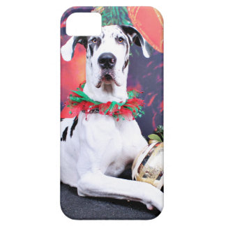 Christmas - Harlequin Great Dane - Baron iPhone 5 Case