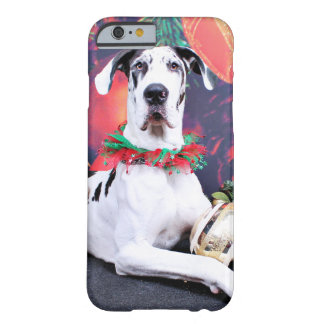 Christmas - Harlequin Great Dane - Baron Barely There iPhone 6 Case