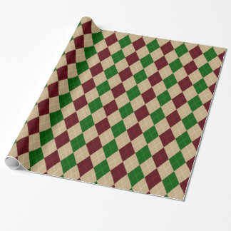 christmas harlequin pattern Wrapping Paper
