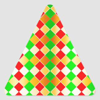 Christmas Harlequin Triangle Sticker