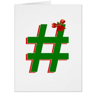 #Christmas #HASHTAG - Hash Tag Symbol Cards