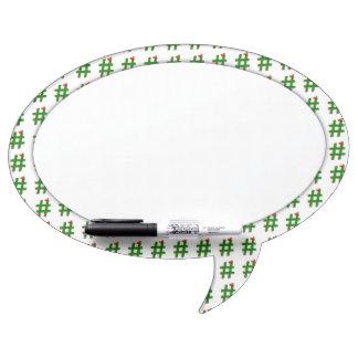 #Christmas #HASHTAG - Hash Tag Symbol Dry Erase Board