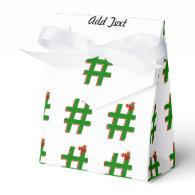 #Christmas #HASHTAG - Hash Tag Symbol Favor Box