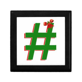 Christmas #HASHTAG - Hash Tag Symbol Gift Boxes