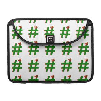 Christmas #HASHTAG - Hash Tag Symbol Sleeve For MacBook Pro