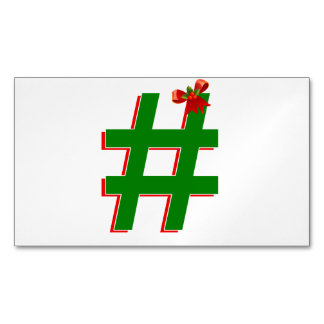 #Christmas #HASHTAG - Hash Tag Symbol Magnetic Business Cards (Pack Of 25)