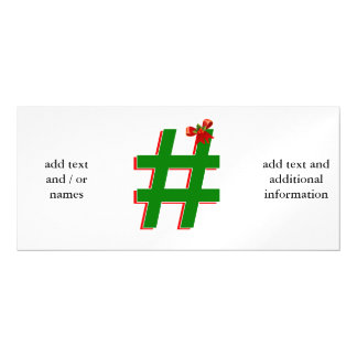 #Christmas #HASHTAG - Hash Tag Symbol Magnetic Card