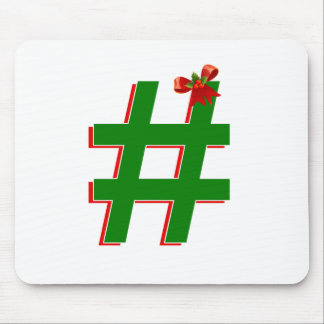 Christmas HASHTAG - Hash Tag Symbol Mouse Pads