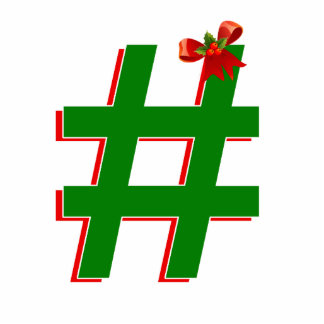 #Christmas #HASHTAG - Hash Tag Symbol Cut Outs