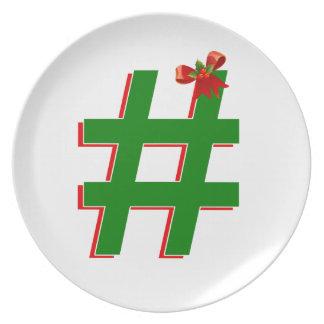 Christmas #HASHTAG - Hash Tag Symbol Plate