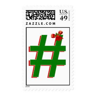 #Christmas #HASHTAG - Hash Tag Symbol Stamps