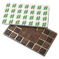 #Christmas #HASHTAG - Hash Tag Symbol 45 Piece Assorted Chocolate Box