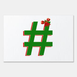 #Christmas #HASHTAG - Hash Tag Symbol Signs