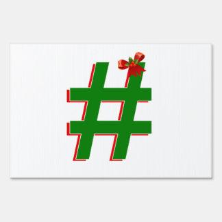#Christmas #HASHTAG - Hash Tag Symbol Lawn Signs