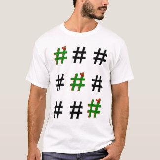 #Christmas #HASHTAG - Tic-Tac-Toe T-Shirt