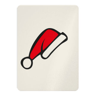 Christmas hat 5x7 paper invitation card