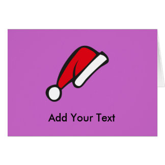 Christmas hat greeting card