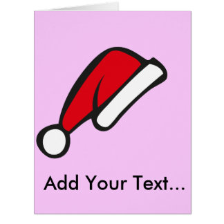 Christmas hat greeting cards