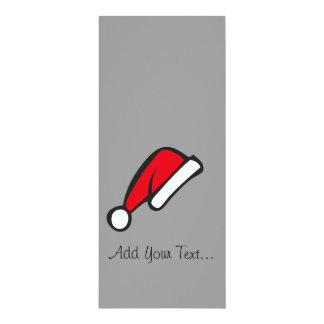 Christmas hat 4x9.25 paper invitation card