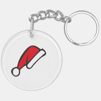 Christmas hat Double-Sided round acrylic keychain