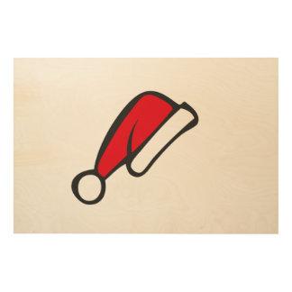 Christmas hat wood print