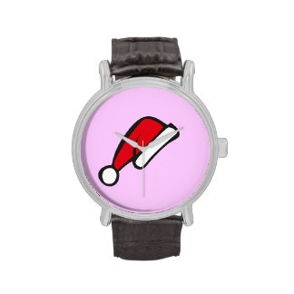 Christmas hat wrist watches