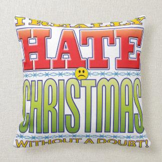 Christmas Hate Face Throw Pillows
