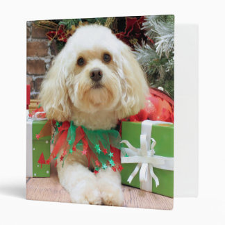 Christmas - Havanese - Mason Vinyl Binder